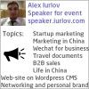 Speaker for event Alex Iurlov