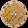 Витражные часы,  декоративные часы