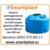 Емкость цилиндрическая на 1100 литров воды 1000ВФК2 емкости под воду ц
