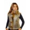 Фирменные женские жилеты из меха опоссума.