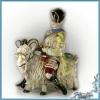 Продается статуэтка фарфоровая Модный портной на козле ручной работы н