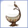 Продаётся чаша  из фарфора и бронзы Павлин,  копия старинного изделия.