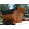 Производство и установка бань-бочек с доставкой в Московской области