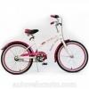 Эксклюзив!  Велосипед 20 сruiser 20 BT-CB-0041 белый с розовым