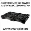 Пластиковый европоддон на ножках арт 02. 102