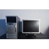 Компьютер Hewlett-Packard с ЖК монитором с документами на гарантии.
